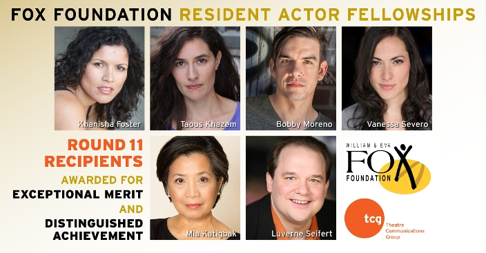 11th Round of Fox Foundation Resident Actor Fellowships
